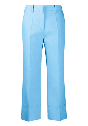 Valentino cropped straight-leg trousers - Blue