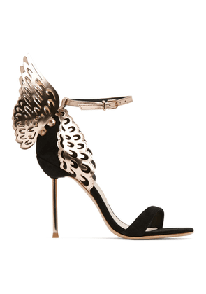 Sophia Webster Black Suede Evangeline Heeled Sandals