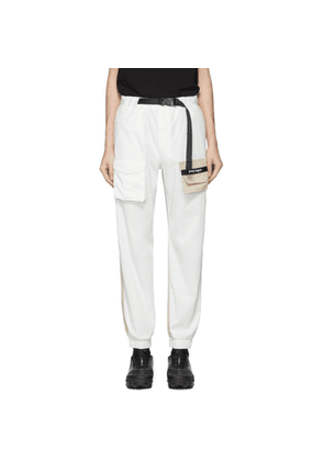 Palm Angels White and Beige Cosy Cargo Pants