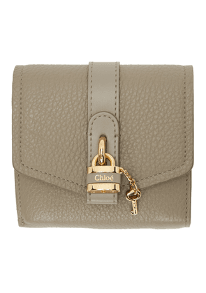 Chloe Grey Aby Square Wallet