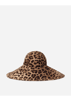 Dolce & Gabbana Hats and Gloves - LEOPARD PRINT HAT LEOPARD PRINT