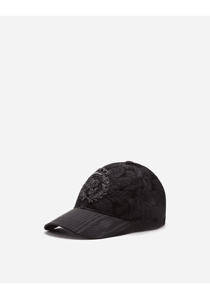 Dolce & Gabbana Hats and Gloves - FLORAL JACQUARD BASEBALL CAP WITH PATCH BLACK