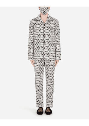Dolce & Gabbana Loungewear Collection - DG-PRINT PAJAMA SET WITH MATCHING FACE MASK MULTICOLOR