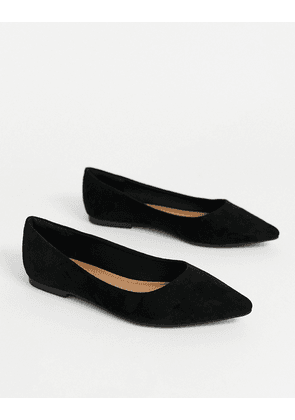 ASOS DESIGN Lucky pointed ballet flats in black