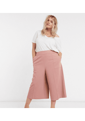 ASOS DESIGN Curve tailored clean culotte-Pink