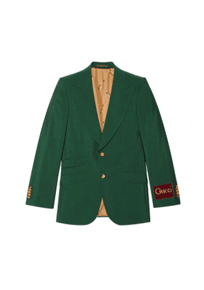 Wool mohair jacket with Gucci label