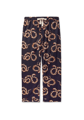 Desmond & Dempsey - Printed Organic Cotton Pyjama Trousers - Men - Blue