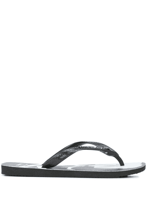 Mastermind World Top two-tone flip-flops - Black