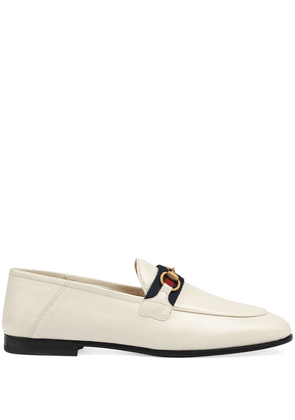 Gucci Web detail loafers - White