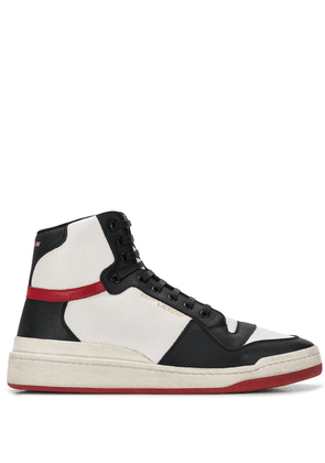Saint Laurent panelled high-top sneakers - White
