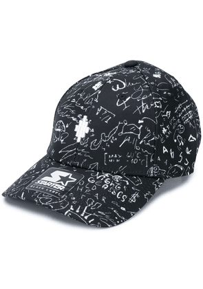 MARCELO BURLON COUNTY OF MILAN sketch print logo patch baseball cap -
