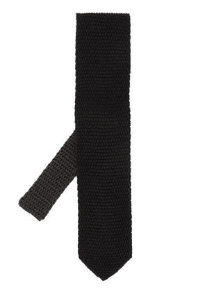 Tom Ford knitted silk tie - Black