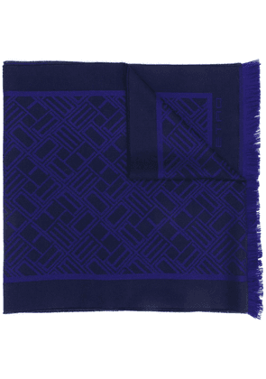 Etro all-over print scarf - Blue