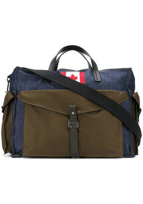 Dsquared2 Canadian patch holdall - Green