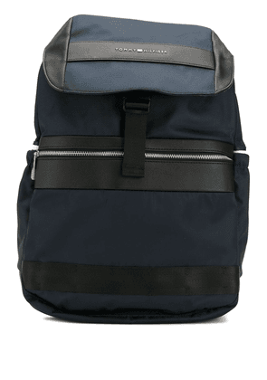 Tommy Hilfiger textile flap backpack - Blue
