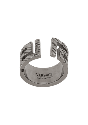 Versace Meander chunky ring - SILVER