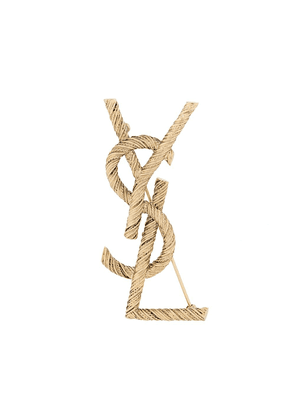 Saint Laurent Opyum rope brooch - GOLD