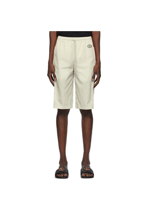 Gucci Off-White Crinkled Shorts