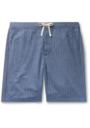 Oliver Spencer Loungewear - Townsend Striped Cotton Pyjama Shorts - Men - Blue