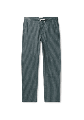 Oliver Spencer Loungewear - Townsend Striped Organic Cotton Pyjama Trousers - Men - Green
