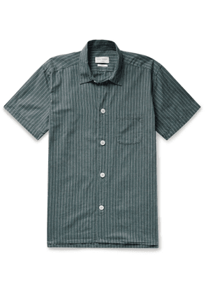 Oliver Spencer Loungewear - Townsend Striped Organic Cotton Pyjama Shirt - Men - Green