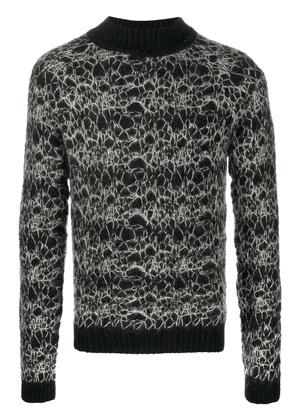 Saint Laurent high neck jumper - Black