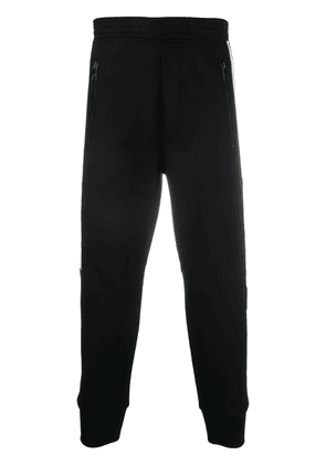 Neil Barrett embroidered logo patch track pants - Black