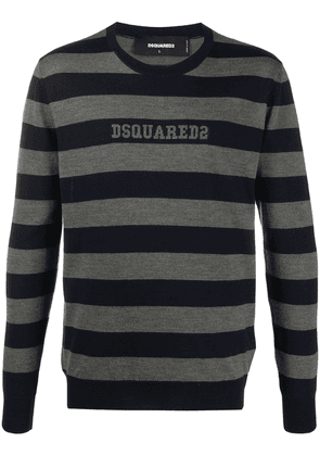 Dsquared2 striped knitted jumper - Blue