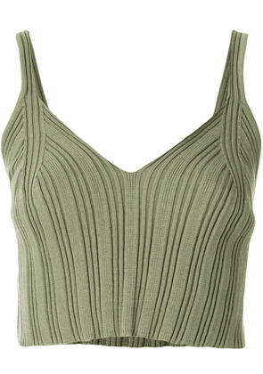 MM6 Maison Margiela ribbed cropped top - Green