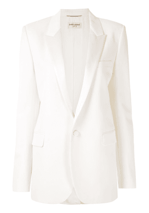 Saint Laurent Reve single-breasted blazer - White
