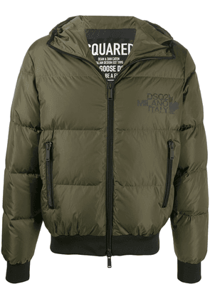 Dsquared2 padded zipped jacket - Green