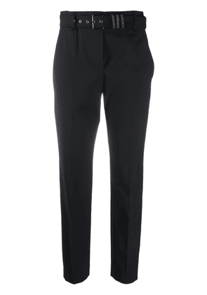Brunello Cucinelli belted tailored trousers - Black