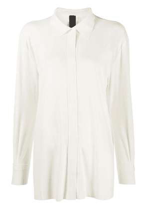 Norma Kamali concealed-placket blouse - NEUTRALS