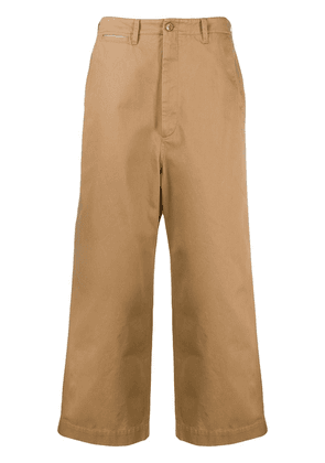 Gucci cropped wide-leg trousers - NEUTRALS