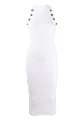 Balmain sleeveless knit dress - White