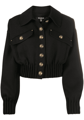 Balmain cropped jacket - Black