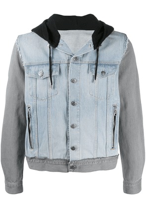 Balmain hooded denim jacket - Blue