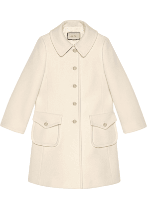 Gucci single-breasted midi coat - White