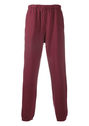 Les Tien cuffed cotton track trousers - Red