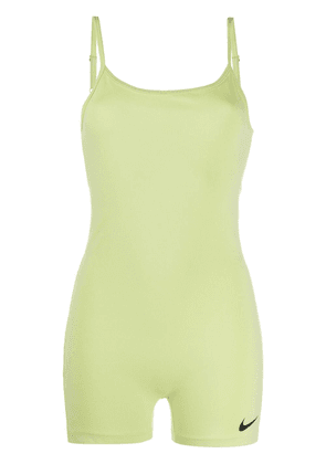 Nike fitted logo print playsuit - Green