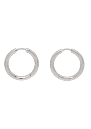Tom Wood Silver Medium Classic Hoop Earrings