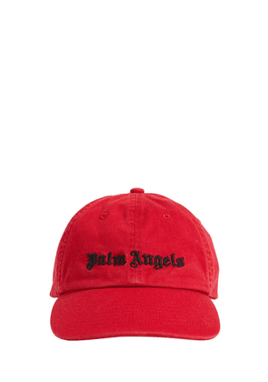 Embroidered Logo Cotton Canvas Cap