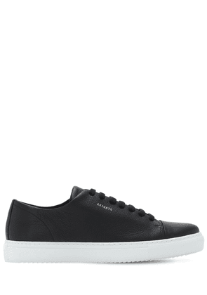 Cap-toe Brushed Leather Sneakers