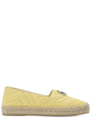 20mm Pilar Quilted Leather Espadrilles