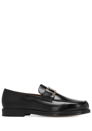 Swan Leather Loafers
