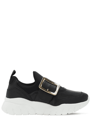 30mm Leather & Mesh Slip-on Sneakers