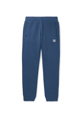 adidas Originals - Tapered Logo-Embroidered Loopback Cotton-Jersey Track Pants - Men - Blue