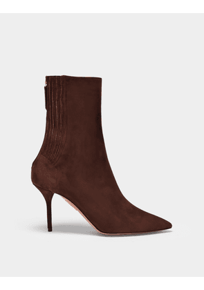 Ankle Boots Saint Honore in Brown Suede