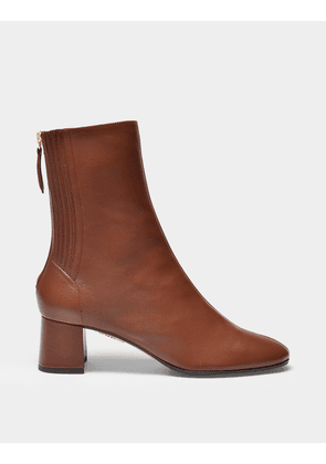 Ankle Boots Saint Honore in Brown Leather