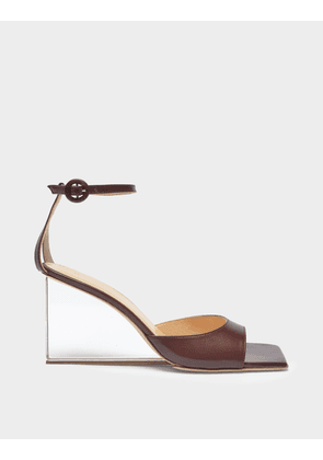 Dima Sandals in Burgundy Leather